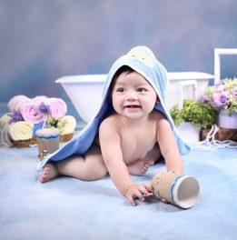 Khăn choàng tắm cho bé