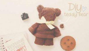 Cùng làm gấu Teddy bằng khăn mặt Poêmy