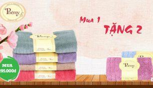 Poêmy Mua 1 tặng 2 – Chọn ngay khăn đẹp